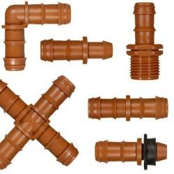 Accesorios de goteo marrón
